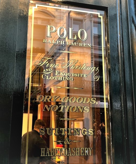 Ralph Lauren Window Signage by Signright Graphics